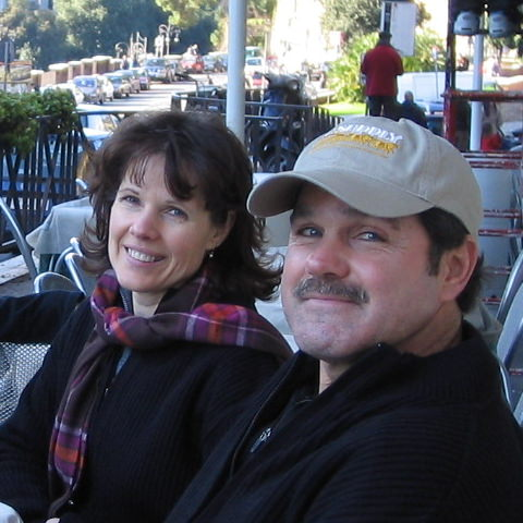 Christine Benedict and husband in Rome, Italy